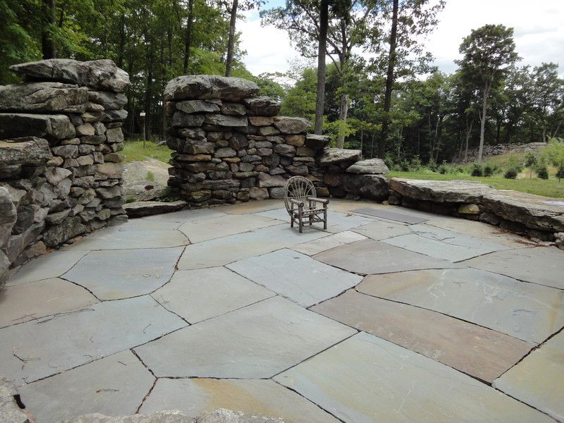 25 great stone patio ideas for your home | stone patios, flagstone ... - Different Patio Ideas