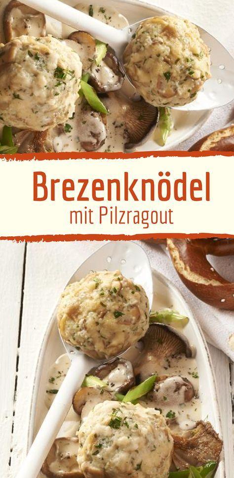Photo of Pretzel dumplings with mushroom ragout