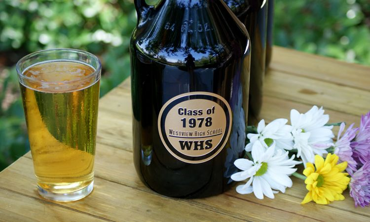 personalized beer gifts personalized beer growler class reunion gift