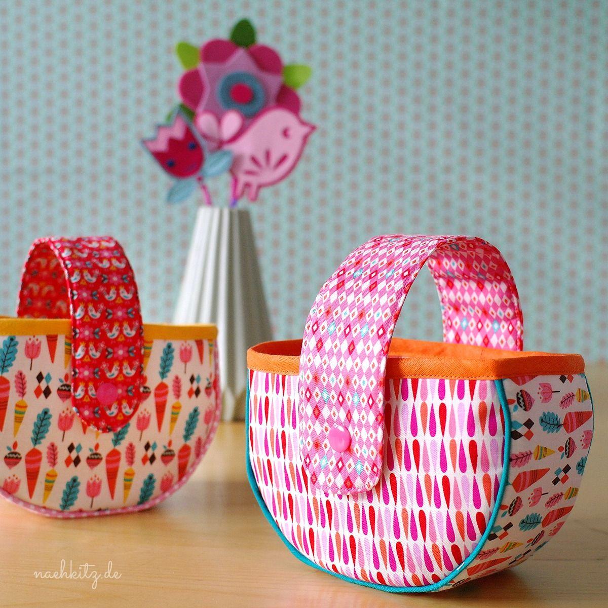 Stoff-Osterkorb | bag love 13 | Pinterest | Easter, Patchwork and ...
