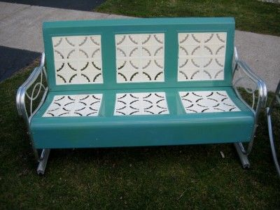 Retro Metal Patio Furniture Vintage Retro Patio