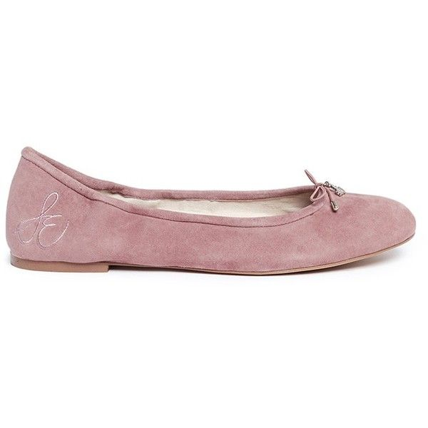 d8bc2e5b6de51b Sam Edelman  Felicia  suede ballet flats ( 120) ❤ liked on Polyvore  featuring