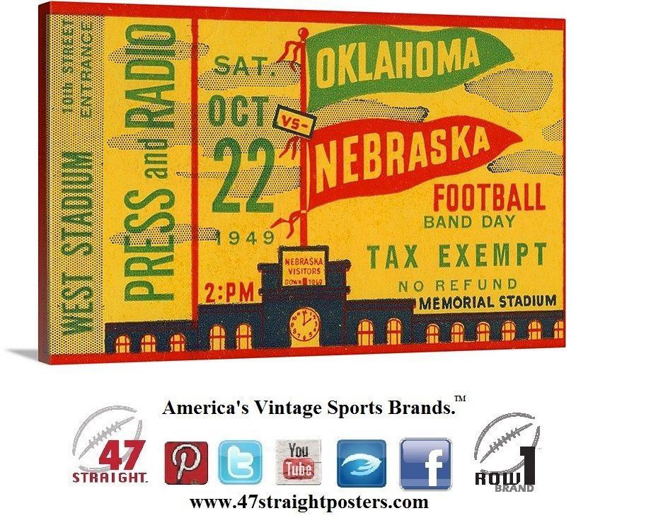 College football art. Ticket stub art. 1949 Oklahoma