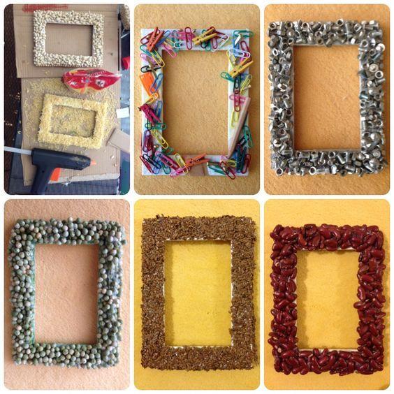 bilderrahmen leinwandbilder selber machen photo frame crafts photo frames for kids und. Black Bedroom Furniture Sets. Home Design Ideas
