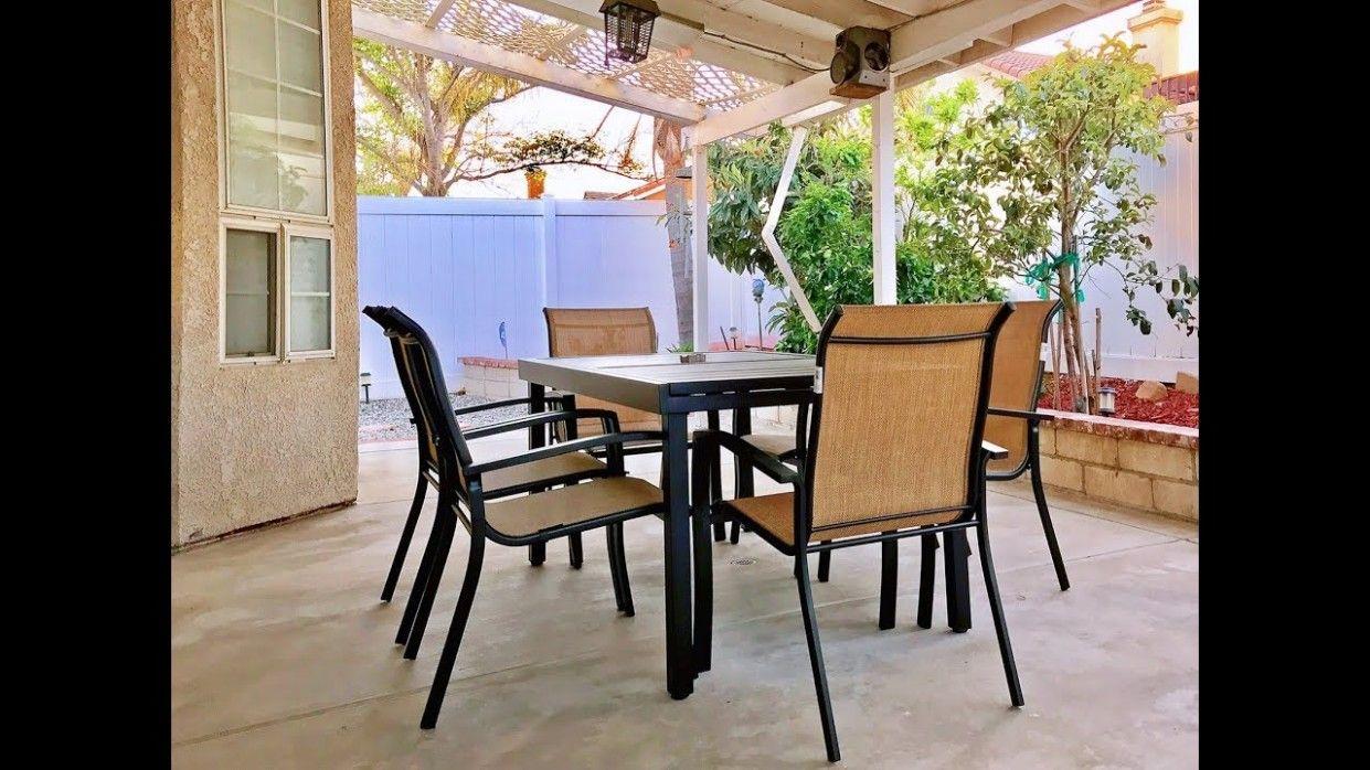 Garden Treasures Pelham Bay Expandable Table in 7  Outdoor