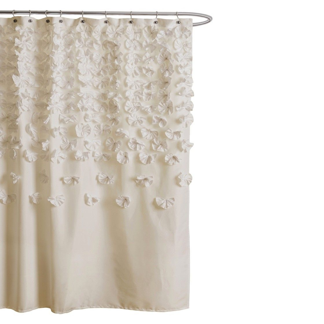 Lush Cor Lucia Scattered Flower Texture Shower Curtain Projects Jpg 1120x1120 Anthropologies Tender Falls