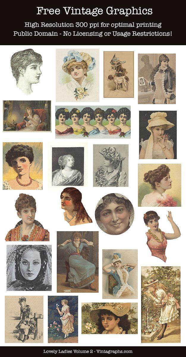 Lovely Ladies Volume 2 Vintagraphs Clip Art Vintage Vintage Christmas Images Christmas Graphics