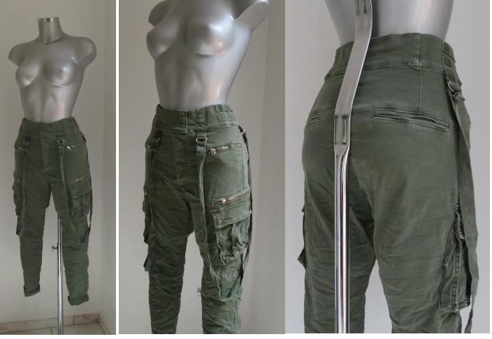 abwechslungsreiche neueste Designs neue Season Größe 7 Jeans - CARGO JEANS HOSE HIGH WAIST STYLE 2018 KHAKI GRÜN ...