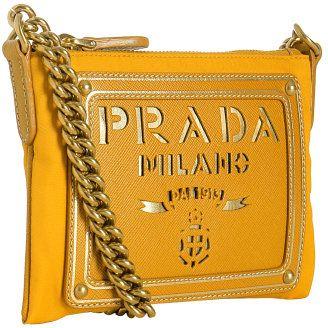 2e64e23b8f9255 Shop for yellow nylon logo mini shoulder bag by Prada at ShopStyle.