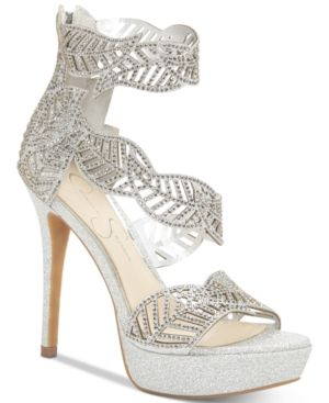 9a5f88c2b02e14 Jessica Simpson Bonilynn Platform Dress Sandals - Silver 5.5M ...