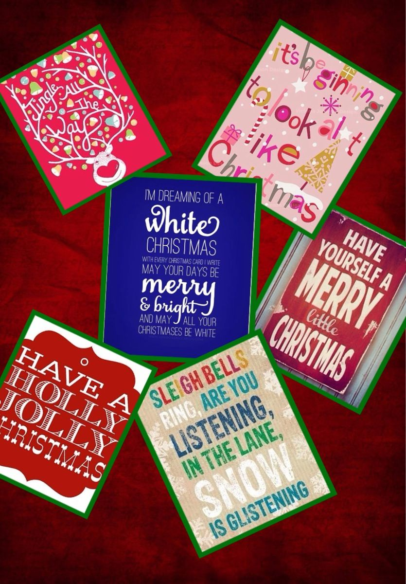 DIY Christmas Lyrics Decorations Diy holiday decor