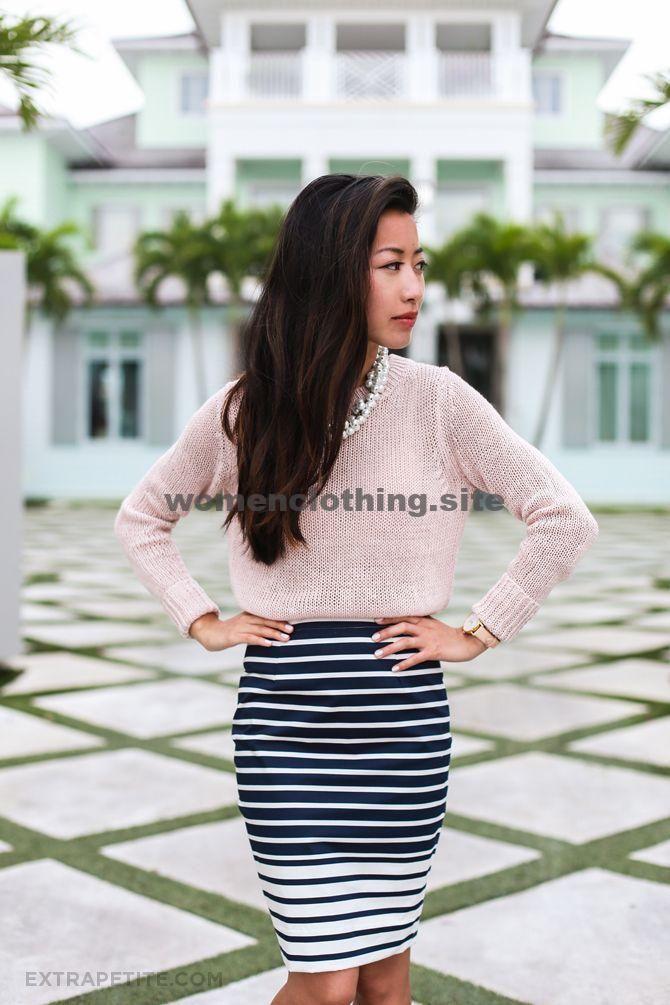 Spring Petites Workwear: Rouge + Streifen von Tag zu Nacht Spring Petites Workwear: Rouge + Streifen von Tag zu Nacht