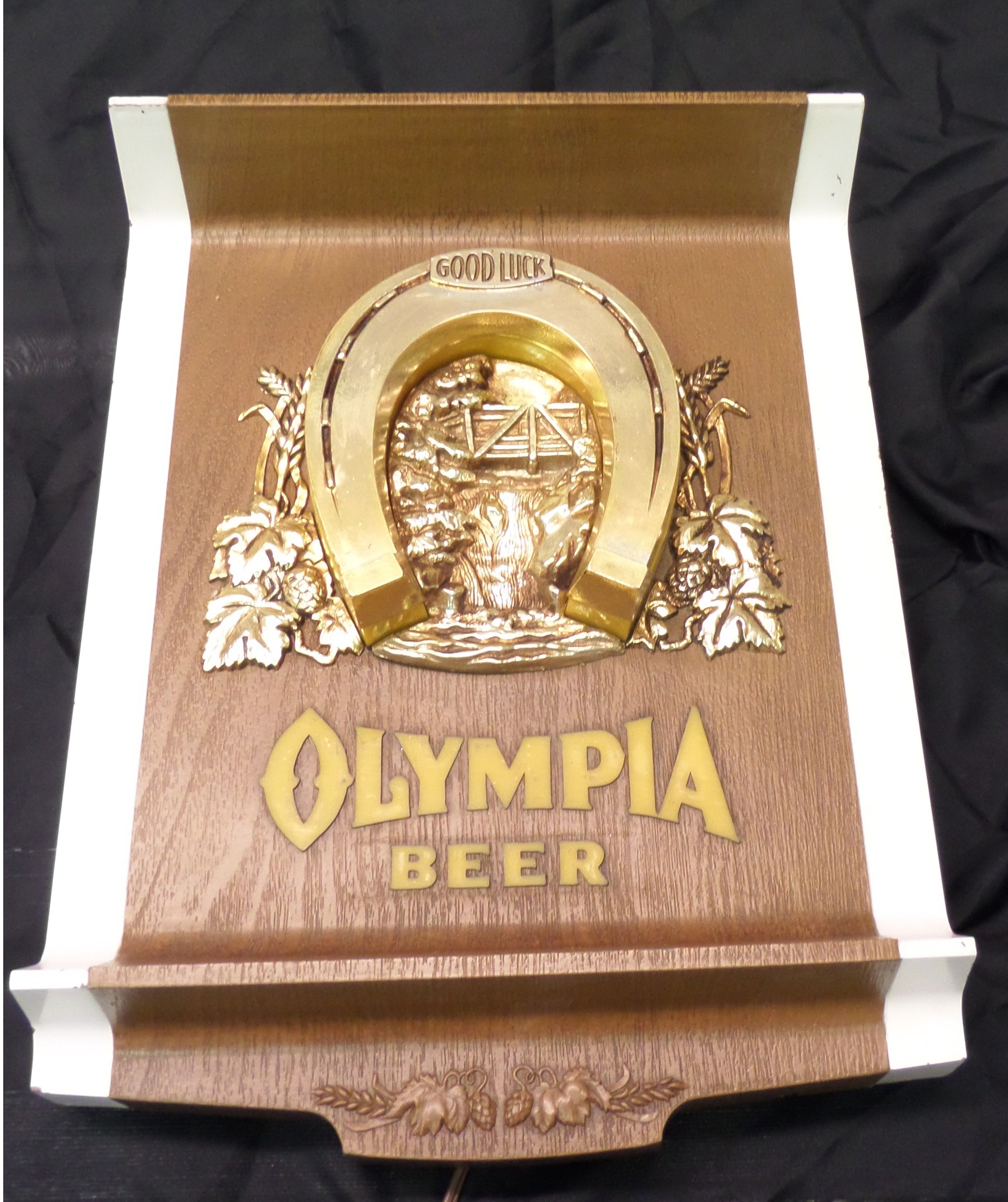 vintage Olympia lucky beer light for sale, vintage Olympia