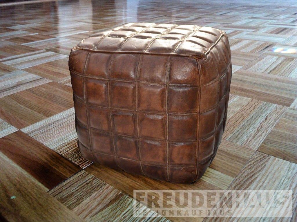 Pouf Leder hocker pouf leder sitzwürfel couchtisch squares s squares