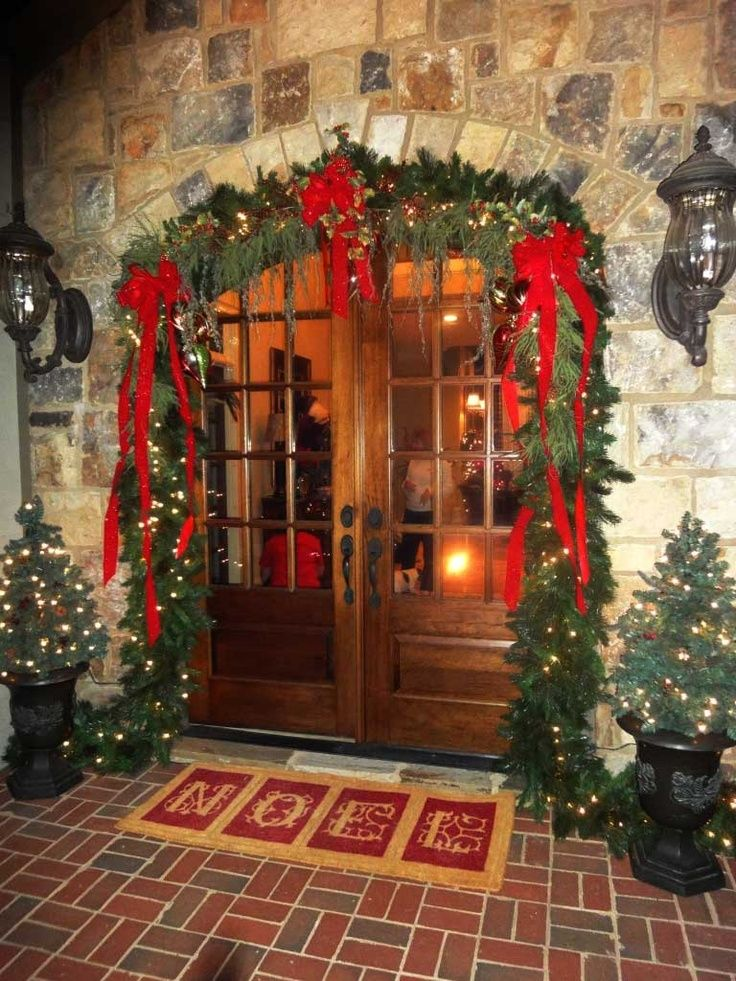 add two small christmas trees modern home idea modern home and interior decorating idea - Small Christmas Door Decorations