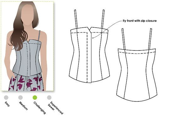 Saskia Woven Bustier  Sizes 4 6 8  Bustier Sewing PDF by StyleArc