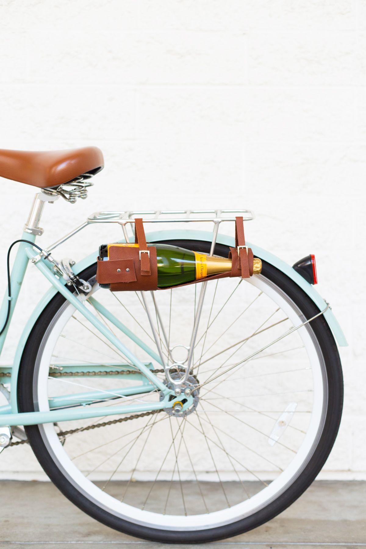 Diy wine bottle carrier bike giveaway wine gifts