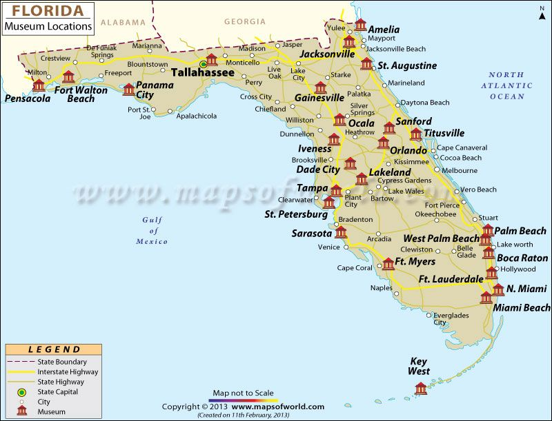 Florida Museums Map travel Pinterest Museums Vacation and