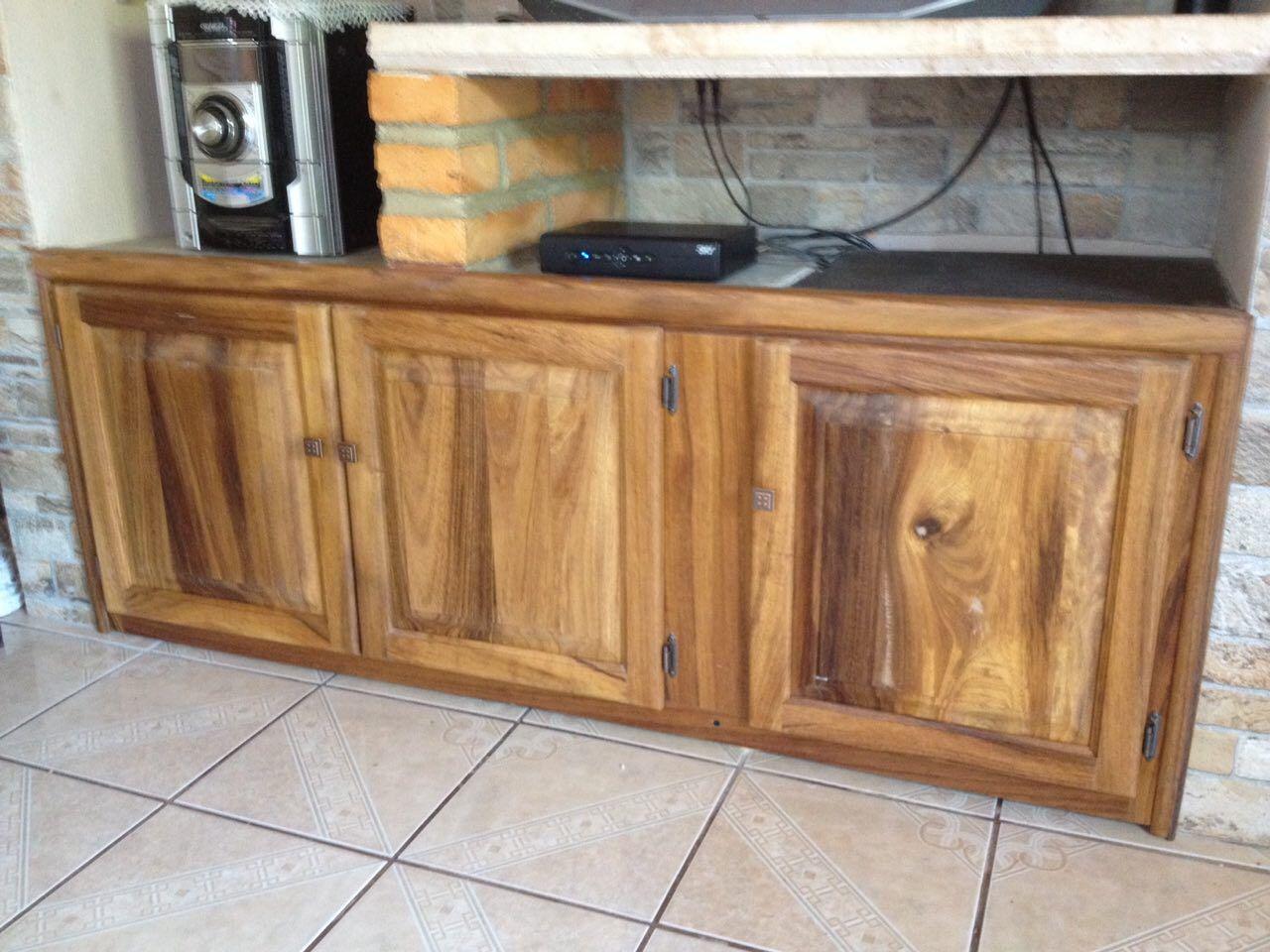 Mueble en madera de parota tipo r stico puertas langarica pinterest - Muebles de madera rusticos ...