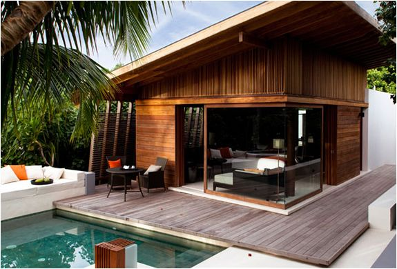 Tropical modern villa. Maldives.