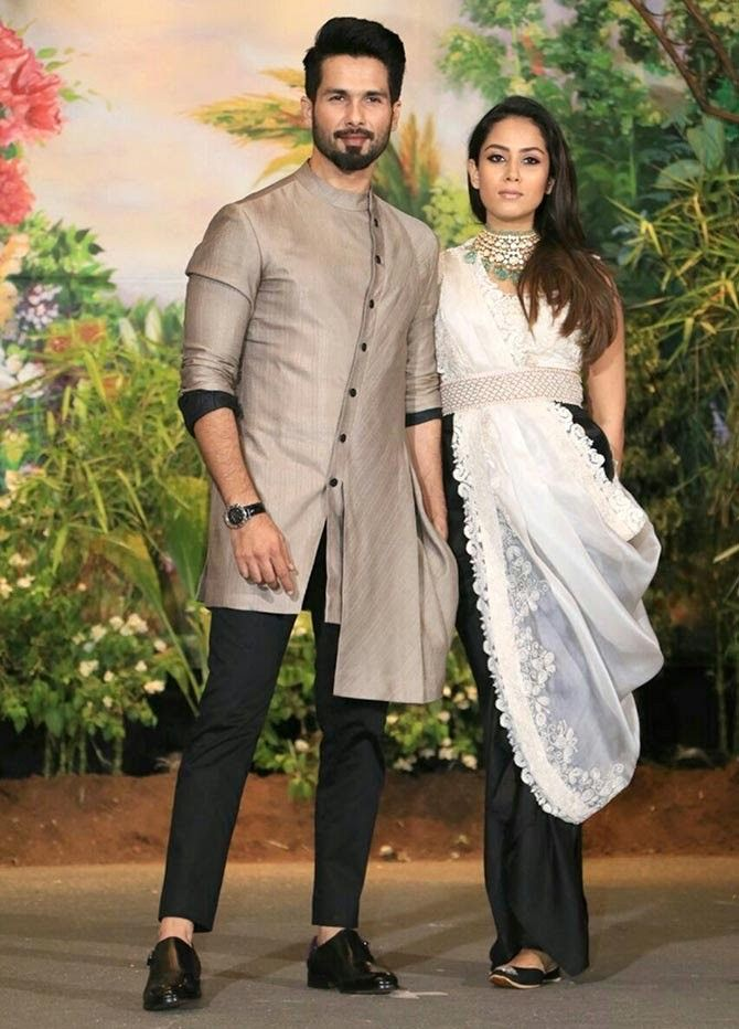 Shahid kapoor and Mira Rajput (With images) | Groom dress