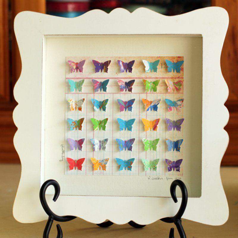 Paper Butterfly Shadowbox (Flutterby) | DIY: Home Decor + Wall Art ...