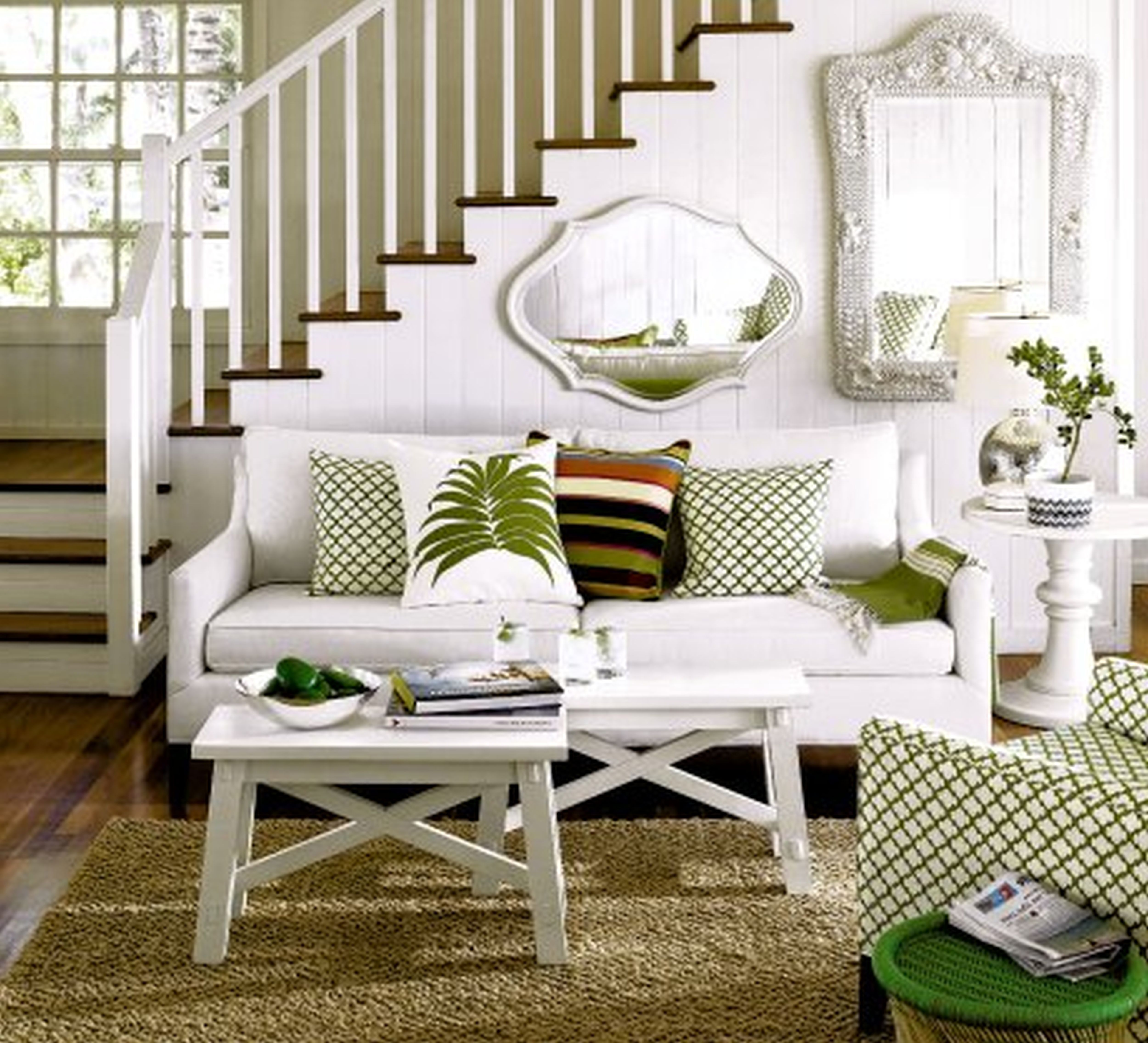 Pleasureable White Fabric 2 Seater Sofas And Benches Coffee Table ...