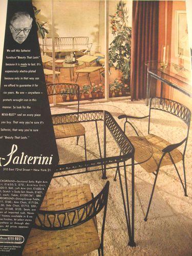 Salterini ad 1951 | Retro Patio | Pinterest