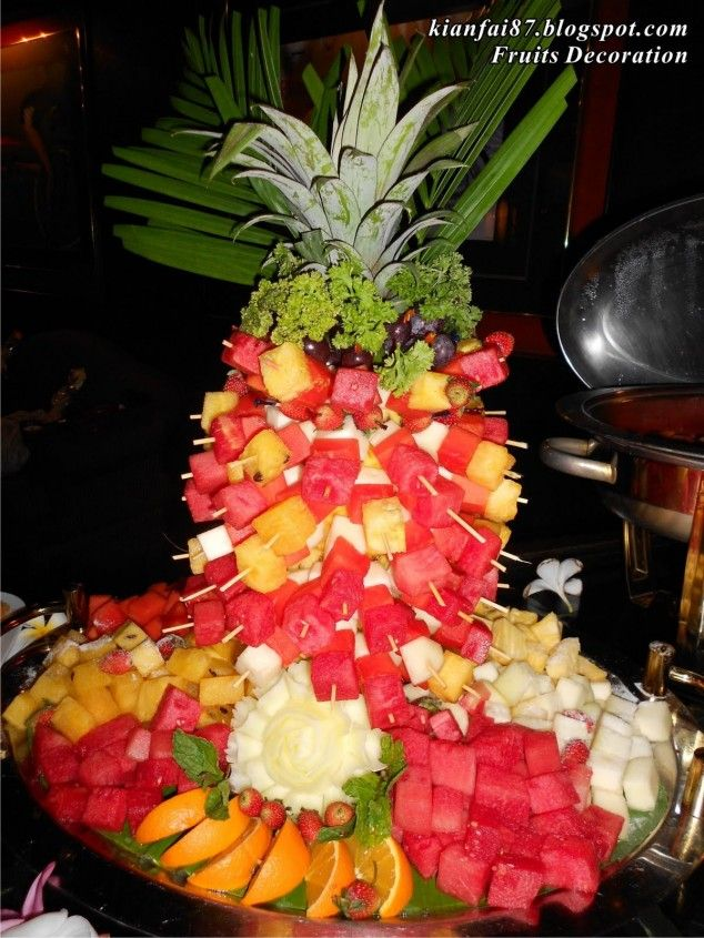 Holiday Villa Fruit Decoration Buffet 634x845 Interesting