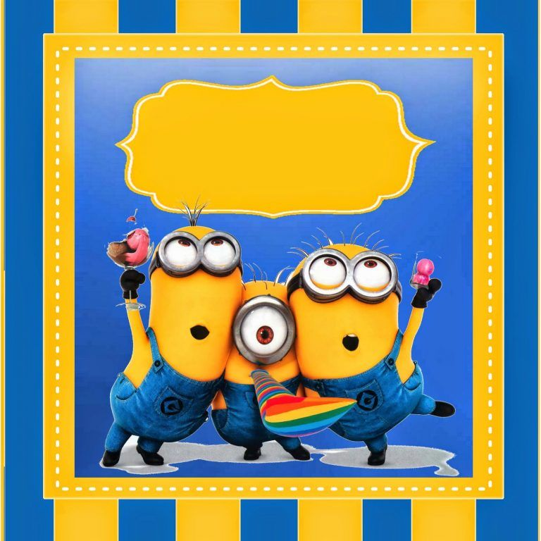 Einladungskarten Minions Vorlage Geburtstagseinladungen Zum