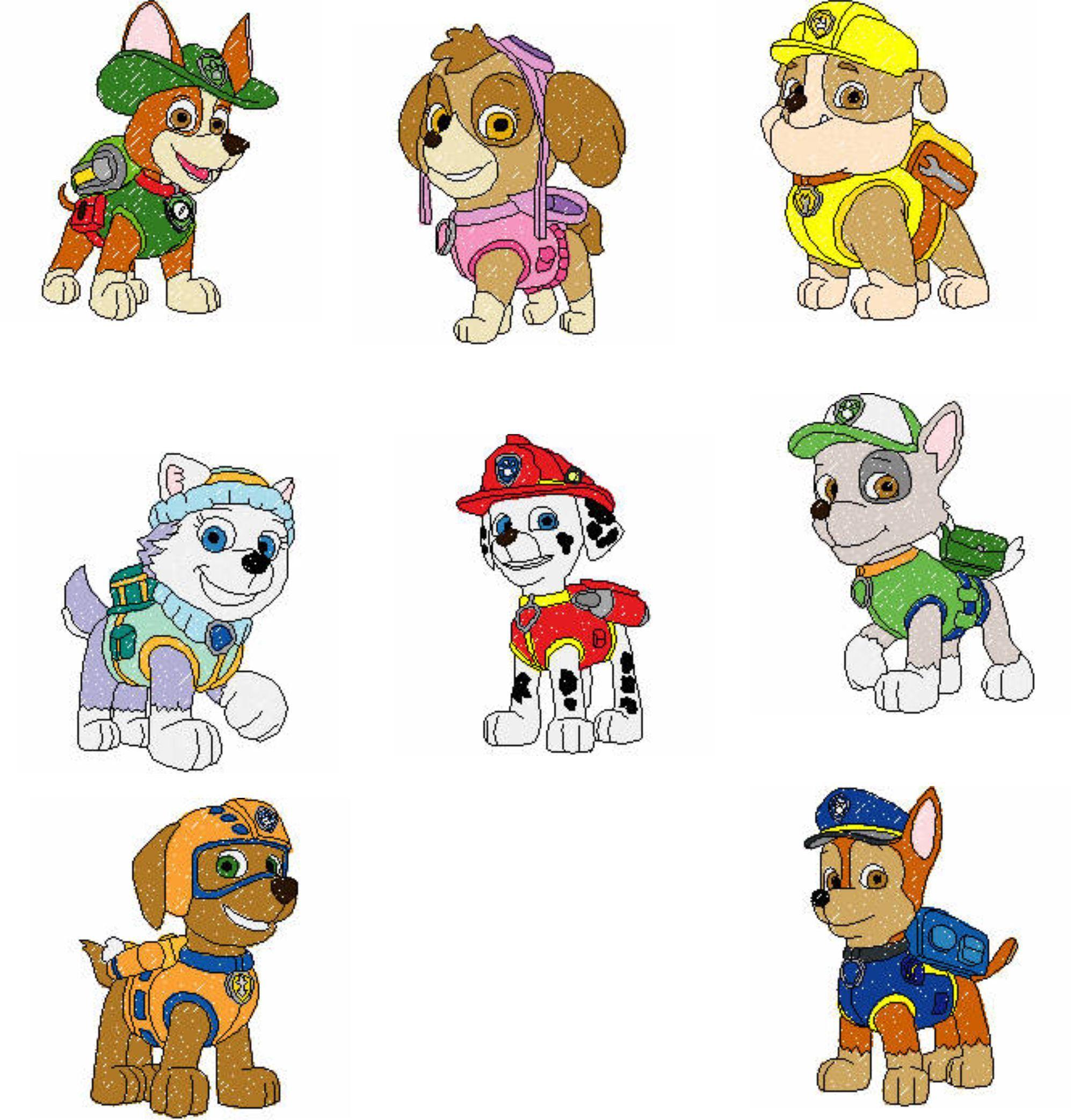 Paw Patrol Pups Etsy Paw Patrol Cartoon Paw Patrol Characters Paw Patrol Pups [ 2086 x 1998 Pixel ]