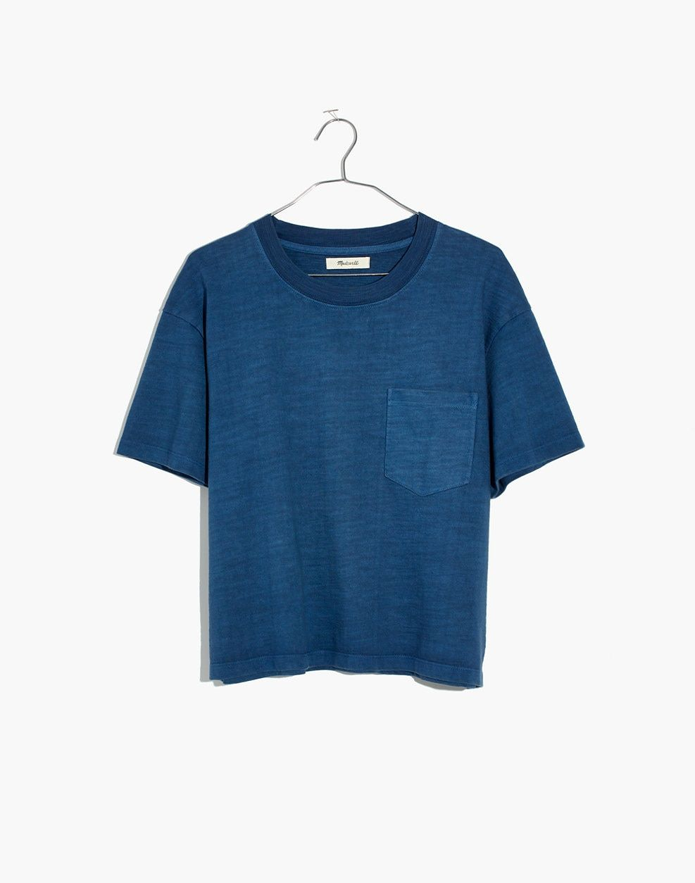 254f0365d83748 Madewell Garment-Dyed Easy Crop Tee
