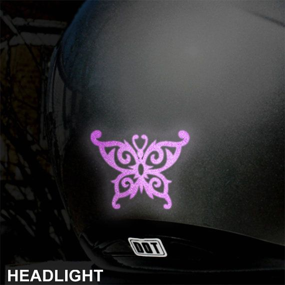 Tribal Butterfly Reflective Decal By SewardStreetStudios On Etsy - Pink motorcycle helmet decalscustom vinyl decals part
