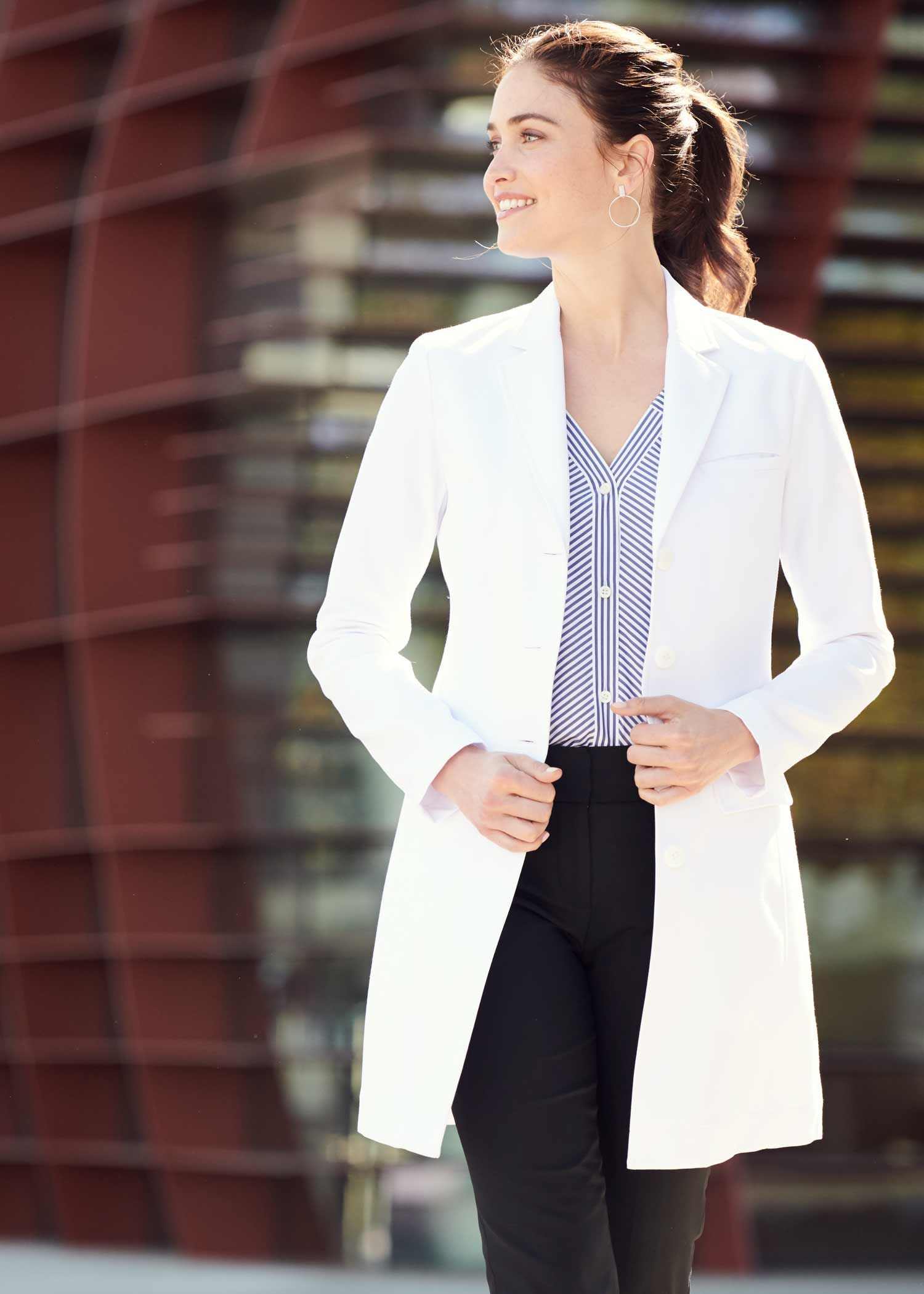 12b06a05302 ✨NEW PRODUCT✨ Meet the Rebecca Slim Fit Lab Coat, a classically tailored white  coat made of performance M3 fabric.