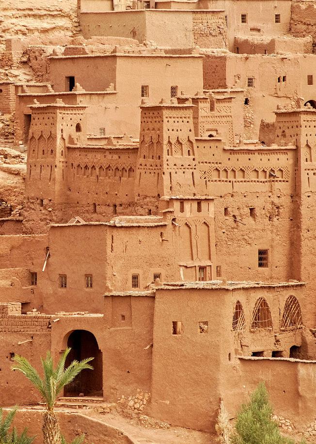 Ait Benhaddou, Morocco   Maroc, Oriental et Brun