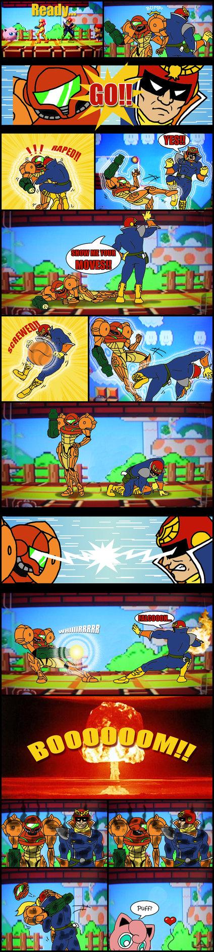 Samus vs Captain Falcon   Super Smash bro.   Super smash ...