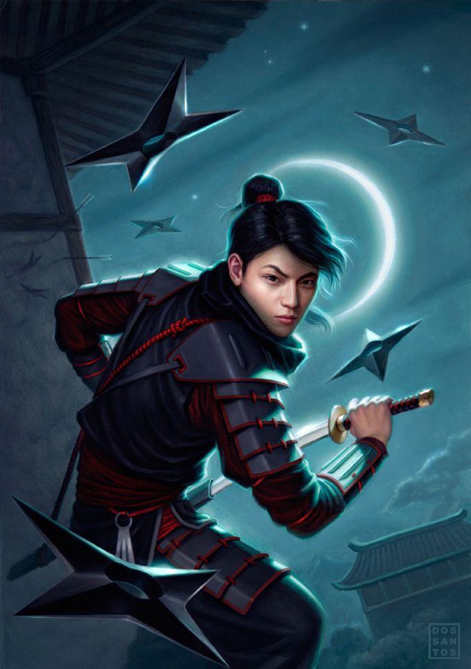 Daniel Dos Santos Characters 3 Ninja Art Fantasy Art