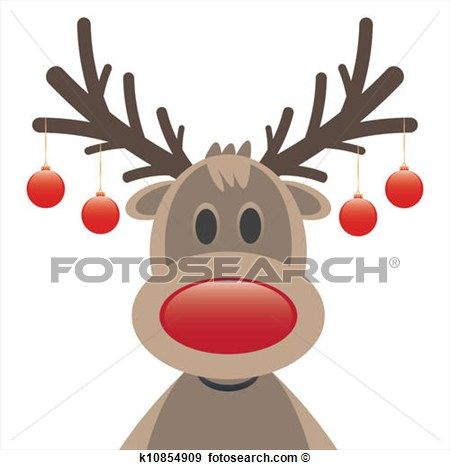 Rudolph Red Nosed Reindeer Clipart And Illustration 333 Rudolph Red Nosed Reindeer Clip Art Vector Rudolph Red Nosed Reindeer Christmas Drawing Reindeer Face