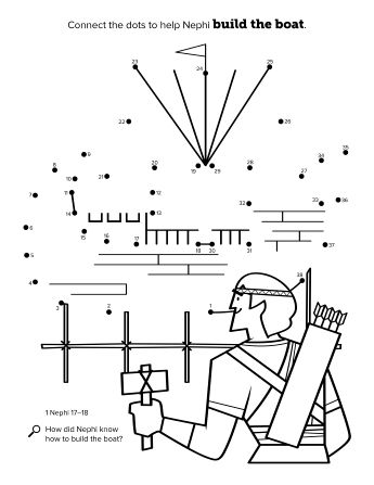35++ Nephi builds a ship coloring page download HD
