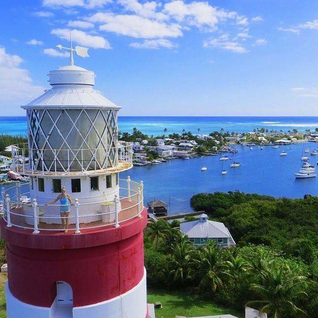 Happy National Lighthouse Day Elbow Cay Lighthouse Hope Town Abaco Bahamas Bahamas Lighthouse Caribbean Abaco Bahamas Island Life Style Beautiful Beaches