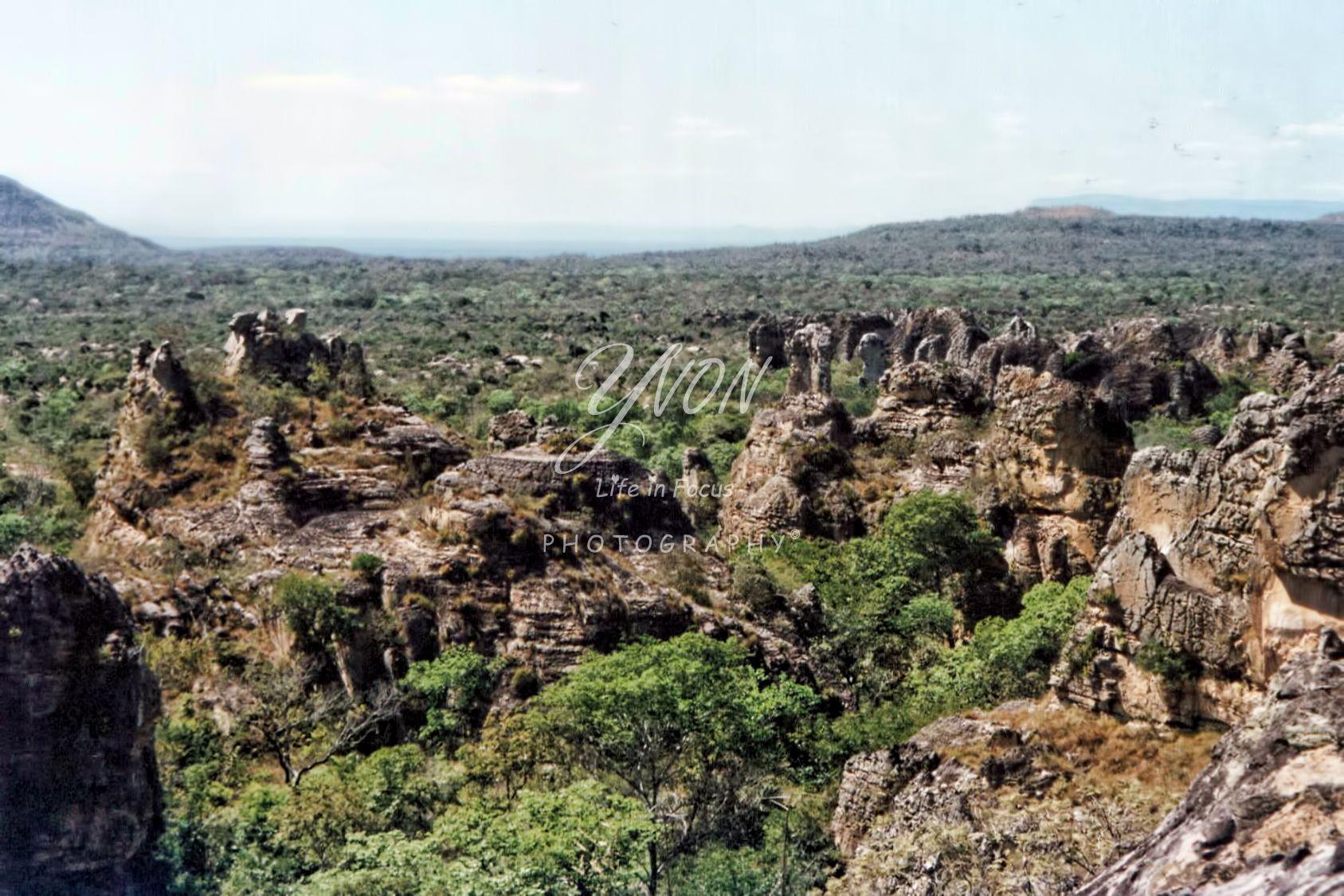 Parque Nacional de Sete Cidades  Brasil 2001- Rotsformaties