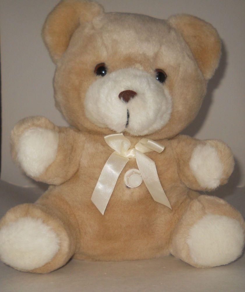 Vintage 1980s Dakin Rock A Bye Baby Teddy Bear Prenatal Womb Heartbeat Sound 11 Baby Teddy Bear Rock A Bye Baby Teddy Bear [ 1000 x 841 Pixel ]