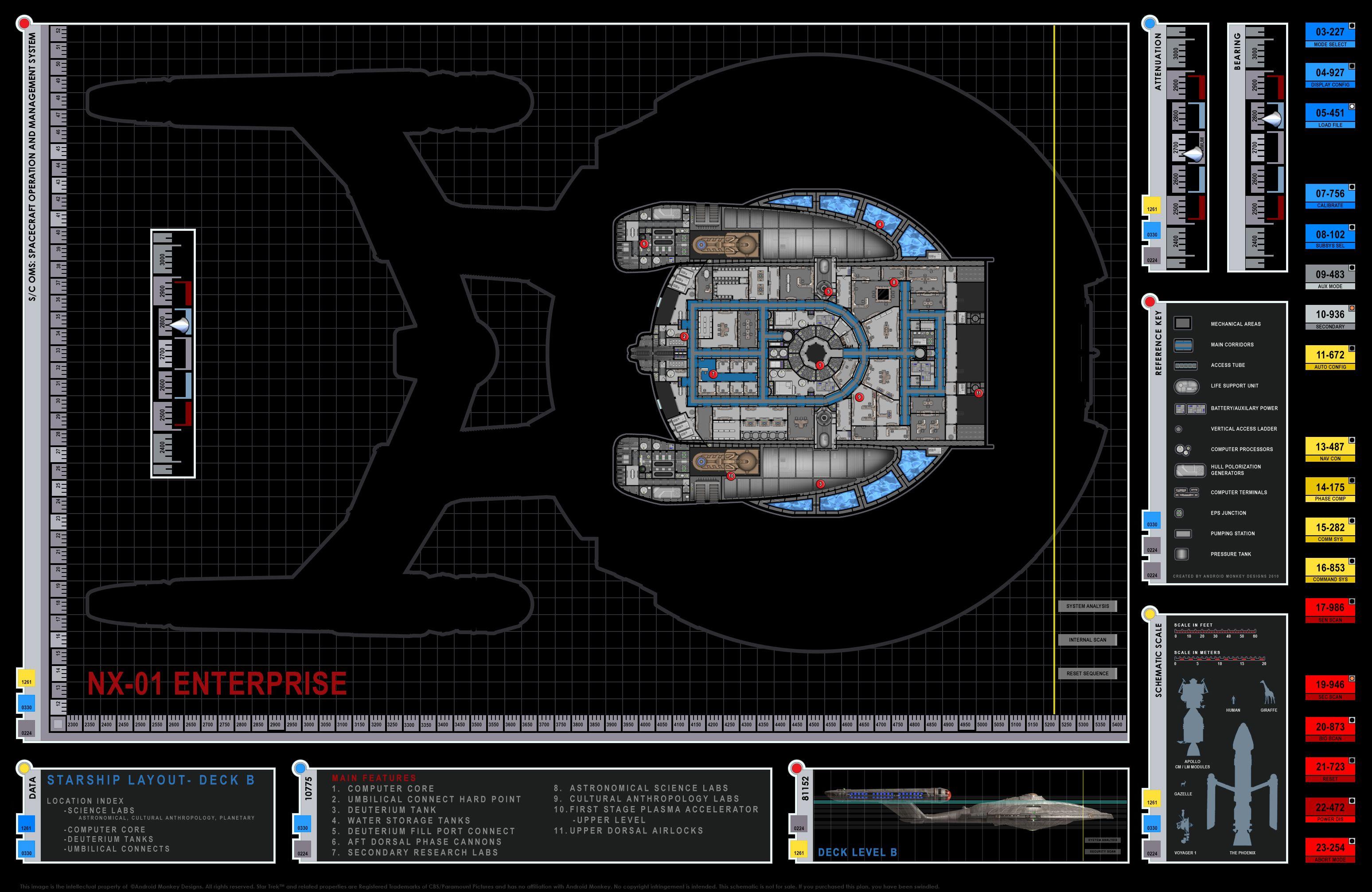 Enterprise NX 01 Deck Plan Schematics #nx01 #ussenterprise #startrek
