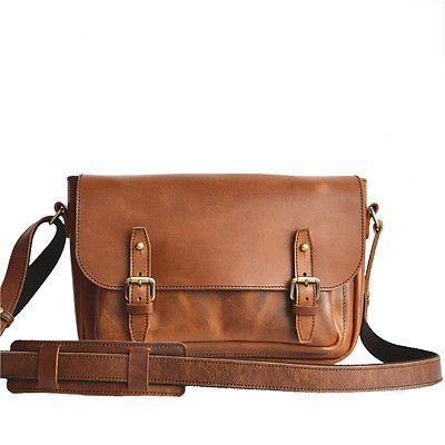 Marlondo Leather Messenger Bag - Tobacco CLEARANCE CUSTOM
