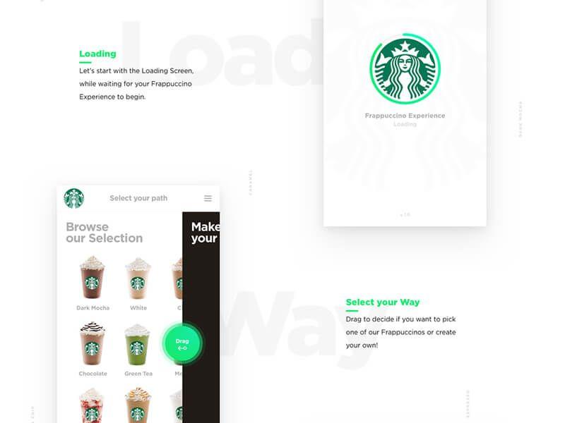 Starbuck app design concept – iOS