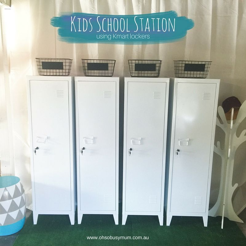 Kmart Top Homewares Lockers For School Organisation Station Or School Drop  Zone Using The Kmart Metal