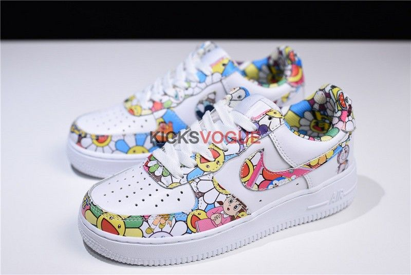 Custom Takashi Murakami Flower x Doraemon x Nike Wmns Air Force 1 ... 368a1cf98