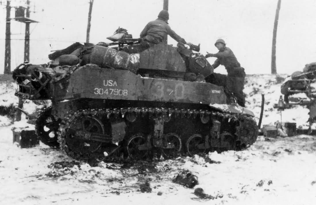 Image result for ww2 m5 Stuart tank in the ardennes