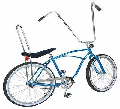 Cruiser Lowrider Bicycle Custom Blue Grips Chopper Bike Cycling