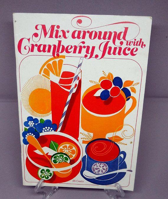 cookbooks Ocean spray vintage